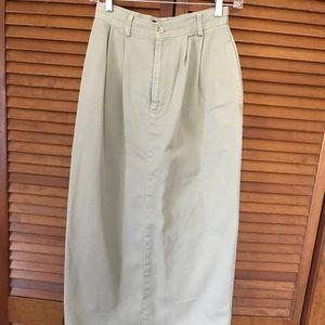 Ladies Lauren maxi khaki skirt size 4
